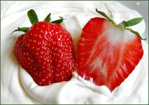 Strawberries and Cream Cleansing and Moisturizing Facial Mask